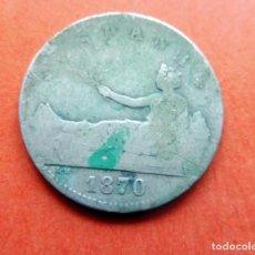 Monedas de España: MONEDA - 1870 - 1 PESETA - PLATA - 200 PIEZAS EN KILOGRAMO - SN.M - KM 653 RC. Lote 226633274
