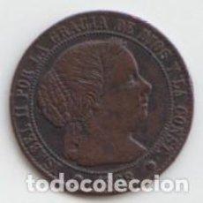 Monedas de España: 1/2 MEDIO CENTIMO DE ESCUDO - ISABEL II 1868 - BARCELONA. Lote 226635640