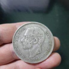 Monedas de España: MONEDA DE 5 PESETAS (DURO) DE ALFONSO XII DEL AÑO 1882*18-82.MS M.DE PLATA.1. Lote 226635864