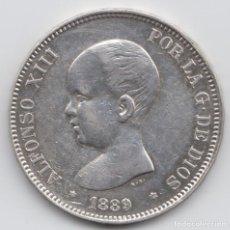 Monedas de España: 5 PESETAS ALFONSO XIII - 1889 - MPM. Lote 226638415