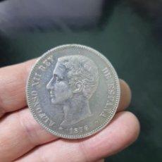 Monedas de España: MONEDA DE 5 PESETAS (DURO) DE ALFONSO XII DEL AÑO 1876*--76.DE M.DE PLATA. Lote 226639800