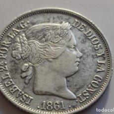 Monedas de España: 4 REALES 1861 BARCELONA. ISABEL II MBC+ ESCASA. Lote 226641720