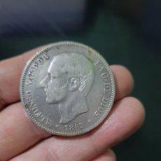 Monedas de España: MONEDA DE 5 PESETAS (DURO) DE ALFONSO XII DEL AÑO 1883*18-83.MS M.DE PLATA.1. Lote 226642175