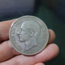 Monedas de España: MONEDA DE 5 PESETAS (DURO) DE ALFONSO XII DEL AÑO 1883*18-83.MS M.DE PLATA.. Lote 226642930