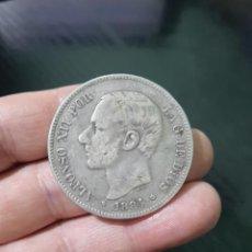 Monedas de España: MONEDA DE 5 PESETAS (DURO) DE ALFONSO XII DEL AÑO 1884*18-84.MS M.DE PLATA.. Lote 226645010