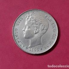 Monedas de España: ESPAÑA. 1 PESETA ALFONSO XIII, 1899 (18-99) SG V, SIN CIRCULAR- PLATA 3109. Lote 226770955