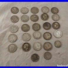 Monedas de España: MONEDAS DE 2 PESETAS DE ALFONSO XII Y 1870. Lote 227068390