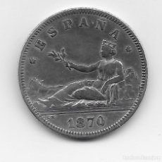 Monedas de España: 2 PESETAS DE PLATA 1870 *73 GOBIERNO PROVISIONAL MUY BUENA CONSERVACION. Lote 227069200