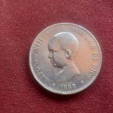Monnaies d'Espagne: BUEN DURO DE 5 PESETAS DE PLATA DE 1888 ESTRELLAS VISIBLES MUY BIEN. Lote 227680500