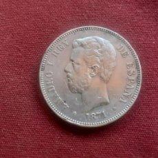 Monnaies d'Espagne: BUEN DURO DE 5 PESETAS DE PLATA DE 1871 ESTRELLAS VISIBLES MUY BIEN 18 74. Lote 227680570