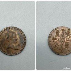 Monedas de España: MONEDA. ISABEL II. 2 MARAVEDIS - MARAVEDIES. 1850. SEGOVIA. MUY RARA. VER FOTOS. Lote 228100540