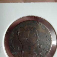 Monedas de España: 8 MARAVEDÍES FERNANDO VII 1823 JUBIA MBC/MBC+ ESCASA. Lote 228537125