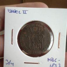 Monedas de España: 3 CUARTOS ISABEL II 1837 CATALUÑA MBC-. Lote 228540055