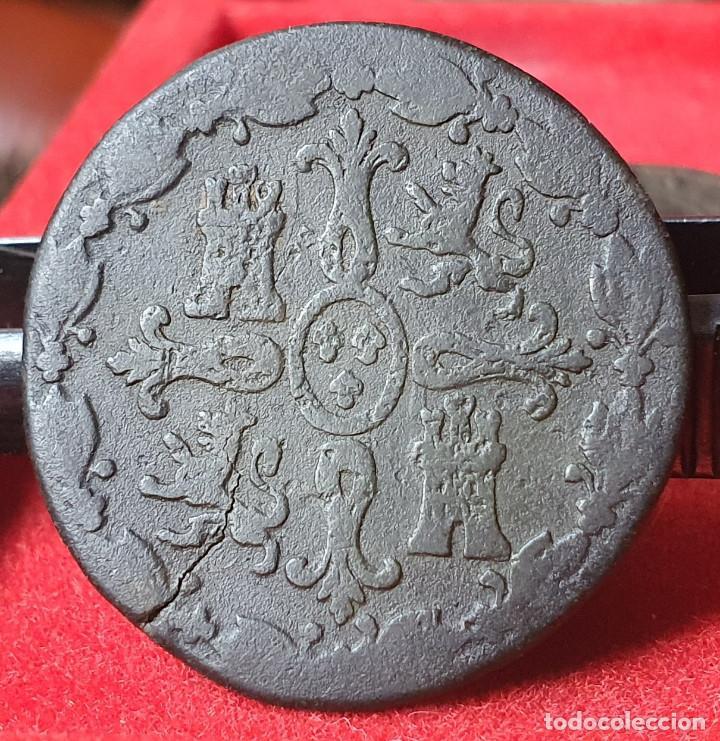 Monedas de España: FERNANDO VII SEGOVIA 8 MARAVEDIS 1820 - Foto 2 - 228877895