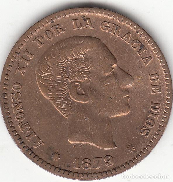ALFONSO XII: 5 CENTIMOS 1879 (Numismática - España Modernas y Contemporáneas - De Isabel II (1.834) a Alfonso XIII (1.931))