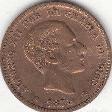 Monedas de España: ALFONSO XII: 5 CENTIMOS 1879. Lote 229369885