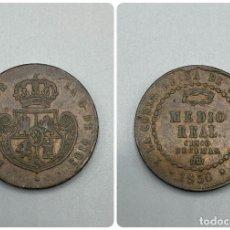 Monedas de España: MONEDA. SEGOVIA. ISABEL II. MEDIO REAL - 1/2 REAL. 1850. VER. Lote 229498905