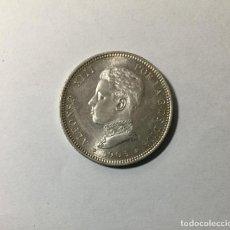 """Monedas de España: ALFONSO XIII , 2 PESETAS 1905 * 05 , PLATA , SILVER , F.D.C. """" DE CARTUCHO"""". Lote 229571370"""