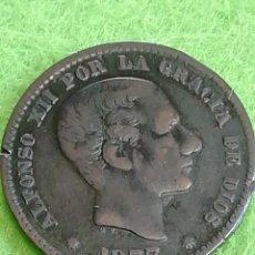 Monedas de España: 5 CÉNTIMOS DE 1877 DE ALFONSOXII BARCELONA OM. GOBIERNO PROVISIONAL.. Lote 229985565