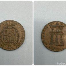 Moedas de Espanha: MONEDA. SEGOVIA. ISABEL II. PROCLAMACION DE LA REINA ISABEL II. 4 MARAVEDIS - MARAVEDIES. 1843. S/C.. Lote 230010490
