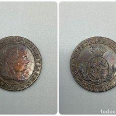 Monedas de España: MONEDA. ISABEL II. 2 1/2 CENTIMOS DE ESCUDO. RARISIMA. 1868. MADRID CON OM. VER FOTOS. Lote 230010815