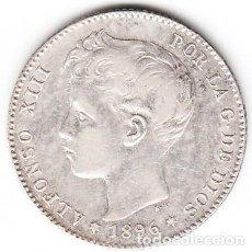 Monedas de España: 1 PESETA PLATA ALFONSO XIII 1896 ESTRELLAS 18 96. Lote 230333185