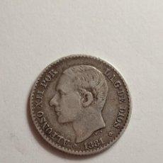Monedas de España: MONEDA PLATA ALFONSO XII 50 CENTIMOS 1881. Lote 230904660