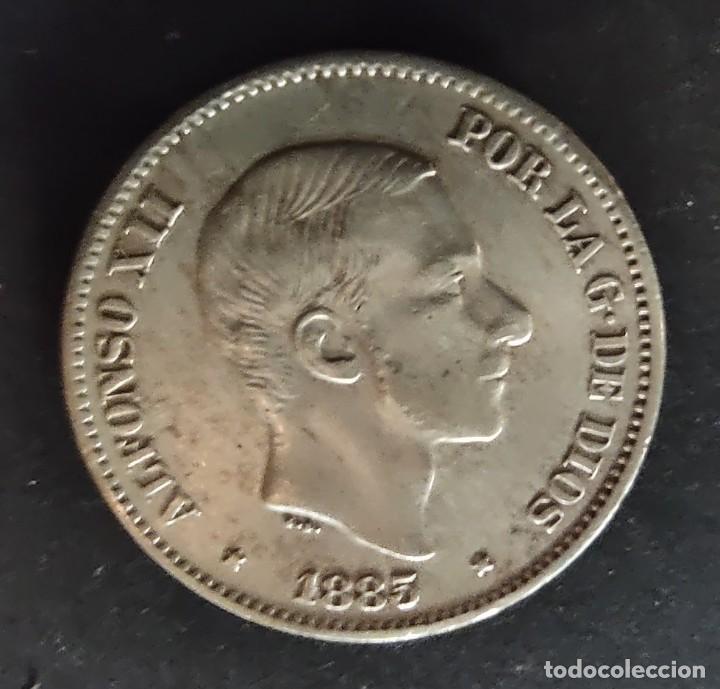 ESPAÑA FILIPINAS, 50 CENTIMOS DE PESO 1885 ORIGINAL PLATA. ¡¡¡¡LIQUIDACION (Numismática - España Modernas y Contemporáneas - De Isabel II (1.834) a Alfonso XIII (1.931))