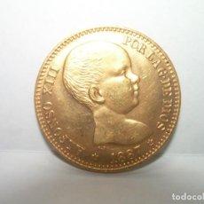 Monedas de España: 20 PESETAS ESPAÑA... DE ORO..... ALFONSO XIII....1887..PERFECTO ESTADO DE CONSERVACION.. Lote 231004030