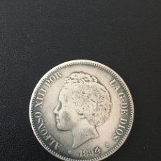 Monedas de España: DURO 5 PESETAS ALFONSO XIII 1894 *33 PLATA. Lote 231325885