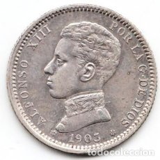 Monedas de España: 1 PESETA ALFONSO XIII 1903 ESTRELLAS 19 03. Lote 231899040