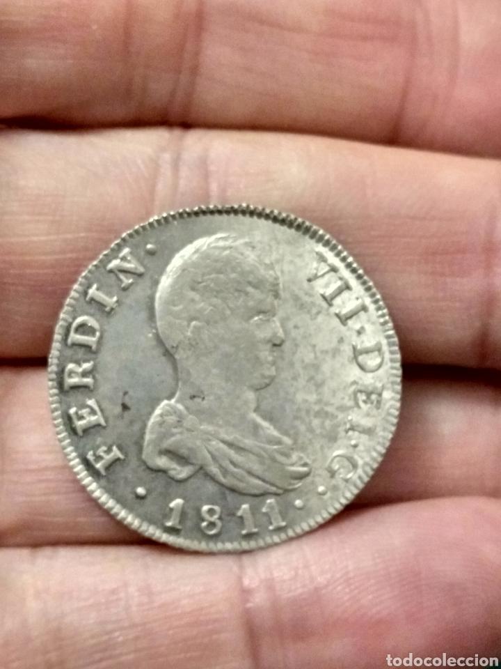 Monedas de España: EBC- MUY BONITOS DOS REALES 1811 FERNANDO VII CECA CATALUÑA PALMA MALLORCA PARTE DEL BRILLO ORIGINAL - Foto 2 - 24512419