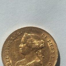 Monedas de España: MONEDA DE ORO 4 ESCUDOS ISABEL II 1865. Lote 232246110