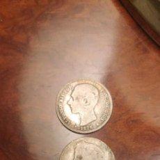 Monedas de España: LOTE DE 3 MONEDAS DE PLATA DE 1 PESETA. Lote 232865570