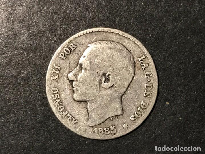MONEDA DE ESPAÑA 1 PESETA DE 1885 MSM (Numismática - España Modernas y Contemporáneas - De Isabel II (1.834) a Alfonso XIII (1.931))