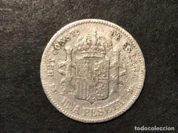 Monedas de España: Moneda de España 1 peseta de 1876 DEM - Foto 2 - 234581145