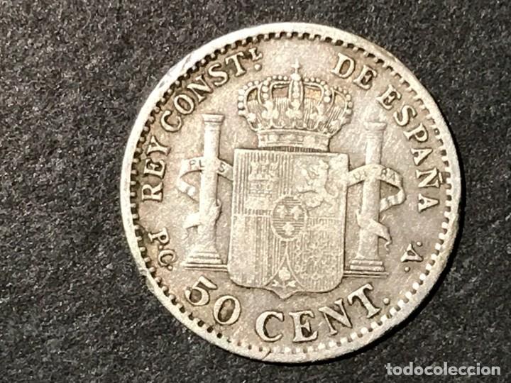 Monedas de España: Moneda España 50 céntimos de Alfonso XIII año 1904 PCV - Foto 2 - 234660145