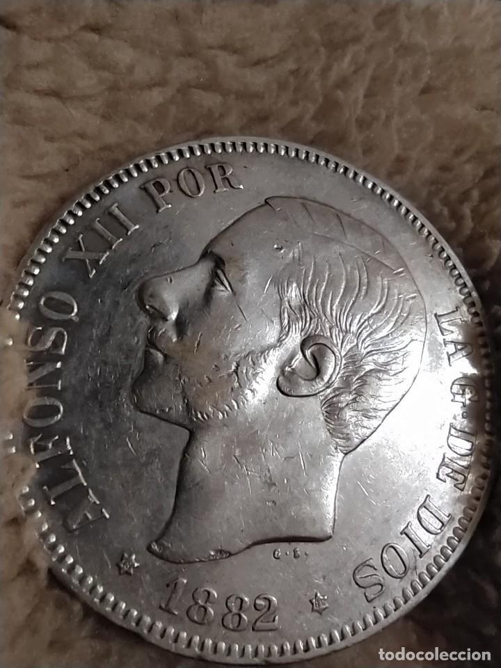 Monedas de España: MONEDA 5 PESETAS DE PLATA ALFONSO XII 1882 *18-82 MSM - Foto 5 - 234896850