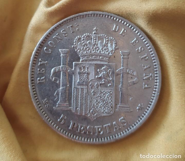 Monedas de España: MONEDA 5 PESETAS DE PLATA ALFONSO XII 1882 *18-82 MSM - Foto 9 - 234896850