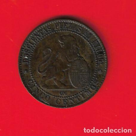 ESPAÑA 5 CENTIMOS 1870 (Numismática - España Modernas y Contemporáneas - De Isabel II (1.834) a Alfonso XIII (1.931))