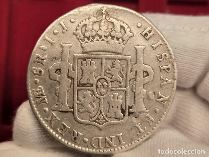 Monedas de España: España 8 Reales Carlos IV - 1795 IJ Lima Km 97 Plata - Foto 2 - 234935410