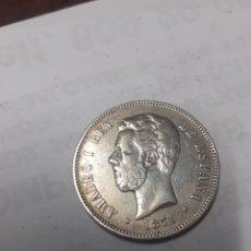 Monedas de España: 5 PESETAS AMADEO 1871 DEM. Lote 234953595