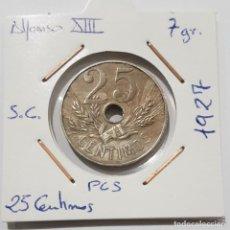 Monedas de España: ALFONSO XIII, 25 CENTIMOS, DE 1927, PCS. ORIGINAL.. Lote 235250385