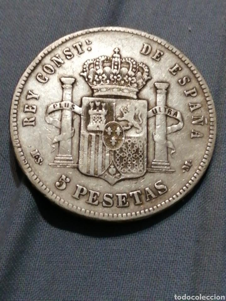 Monedas de España: 5 pesetas de Plata 1885 ESTRELLA 87 EXCELENTE - Foto 3 - 235295810