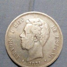 Monedas de España: AMADEO PRIMERO 1871 MSD. Lote 235298475