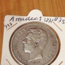 Monedas de España: DURO DE PLATA AMADEO 1871 18-75. Lote 235298605