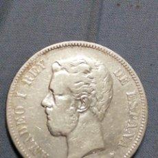 Monedas de España: MONEDA DE PLATA DE 5 PESETAS DE 1871, .LETRAS SDM,. Lote 235299155