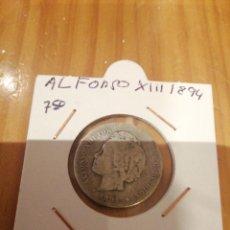 Monedas de España: 1 PESETA DE PLATA DE ALFONSO XII I 1894. Lote 235299805