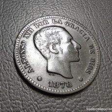 Monedas de España: 5 CENTIMOS COBRE 1878 (OM) BARCELONA. ALFONSO XII ¡¡ LIQUIDACION COLECCION!!. Lote 235466745