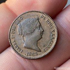 Monedas de España: ISABEL II-10CENTIMOS DE REAL-1863-SEGOVIA- N056. Lote 235469115